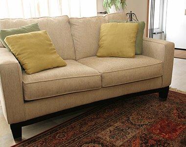 fresh cleaned upholstery