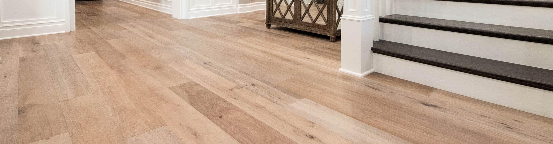 hardwood floor on main level