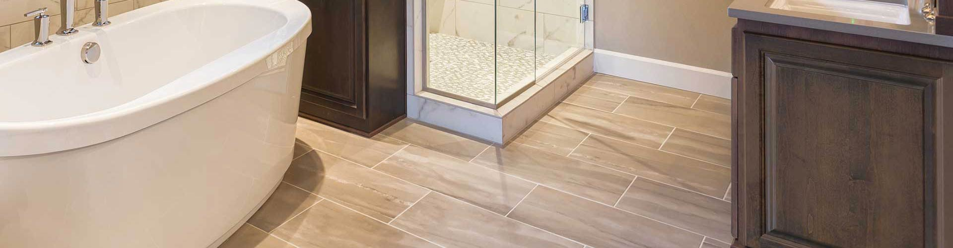 tile and grout floor in bathroom